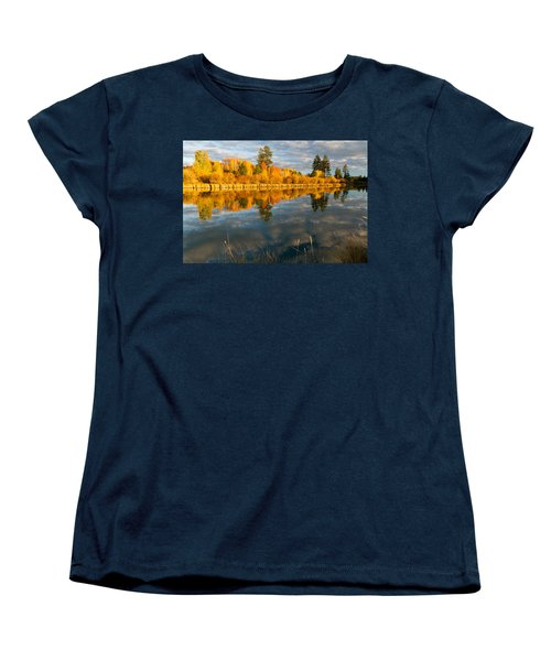 Women's T-Shirt (Standard Cut) featuring the photograph Fall Fractal by Kevin Desrosiers