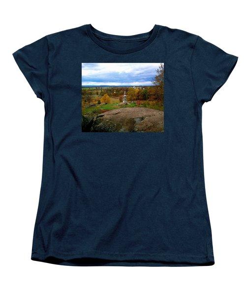 Fall In Gettysburg Women's T-Shirt (Standard Cut) by Amazing Photographs AKA Christian Wilson