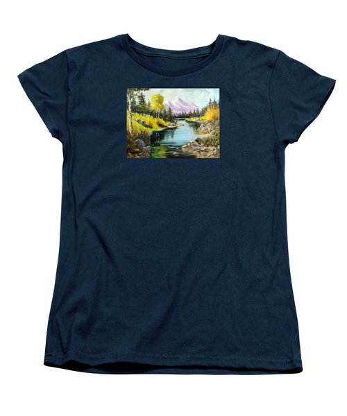 Fall In The Rockies Women's T-Shirt (Standard Cut) by Lee Piper