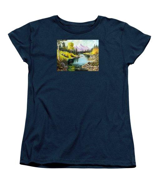 Fall In The Rockies Women's T-Shirt (Standard Cut)