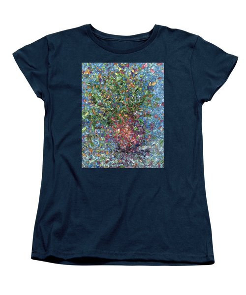 Women's T-Shirt (Standard Cut) featuring the painting Falling Flowers by James W Johnson