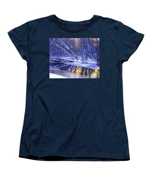 Women's T-Shirt (Standard Cut) featuring the photograph Falling by Terri Gostola
