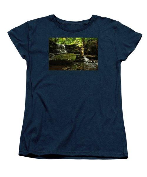Women's T-Shirt (Standard Cut) featuring the photograph Fallsbrook Falls by Debra Fedchin