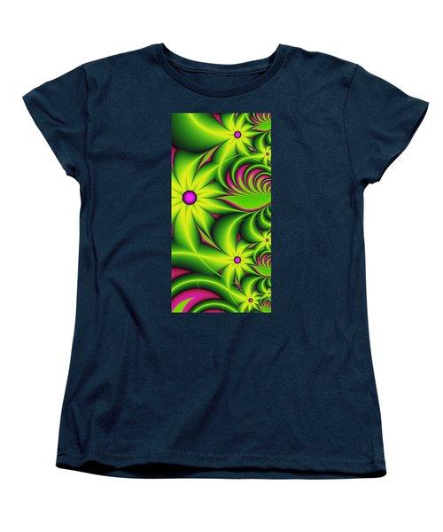 Women's T-Shirt (Standard Cut) featuring the digital art Fantasy Flowers by Gabiw Art