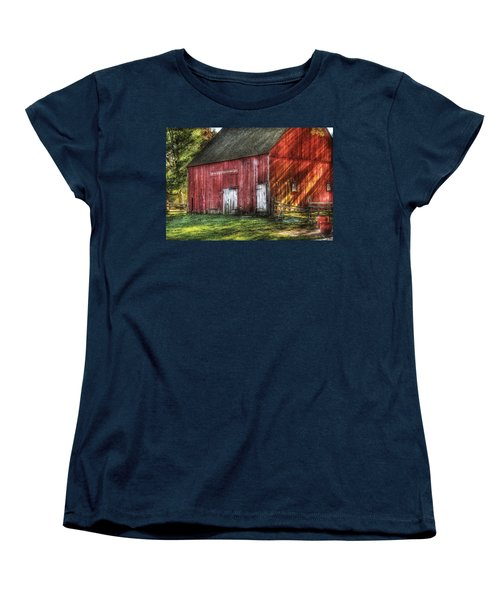 Farm - Barn - The Old Red Barn Women's T-Shirt (Standard Cut) by Mike Savad