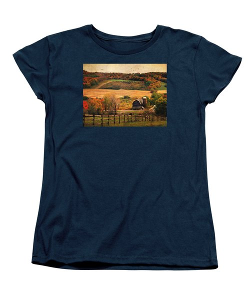 Farm Country Autumn - Sheldon Ny Women's T-Shirt (Standard Cut) by Lianne Schneider