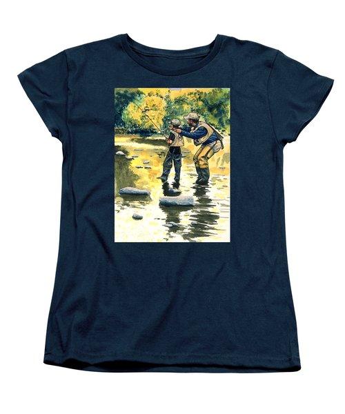 Father And Son Women's T-Shirt (Standard Cut) by John D Benson