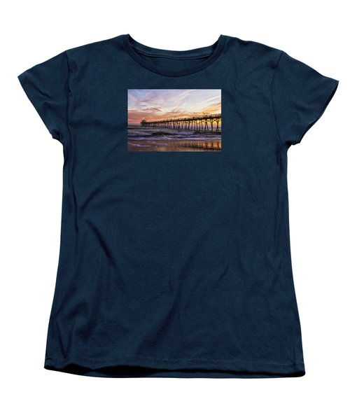 Febuary Sunset On Atlantic Beach Women's T-Shirt (Standard Cut) by Bob Decker