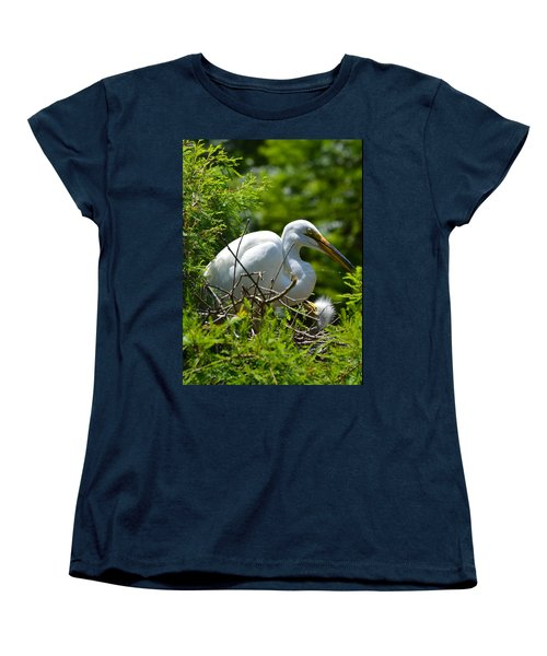 Feed Me Mom Women's T-Shirt (Standard Cut) by Judith Morris