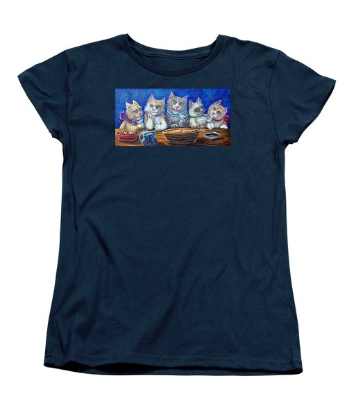 Felines After Five Women's T-Shirt (Standard Cut) by Gail Butler