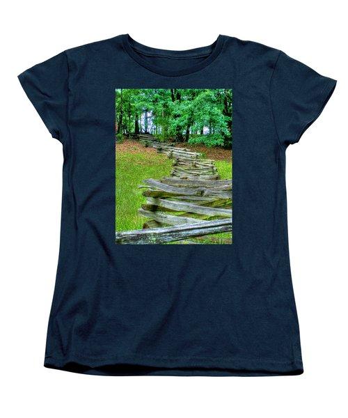 Fence Line Women's T-Shirt (Standard Cut) by Dan Stone