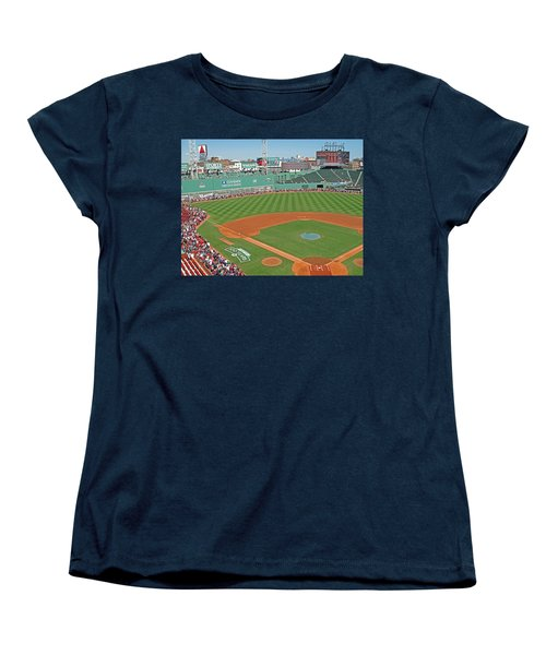 Women's T-Shirt (Standard Cut) featuring the photograph Fenway One Hundred Years by Barbara McDevitt
