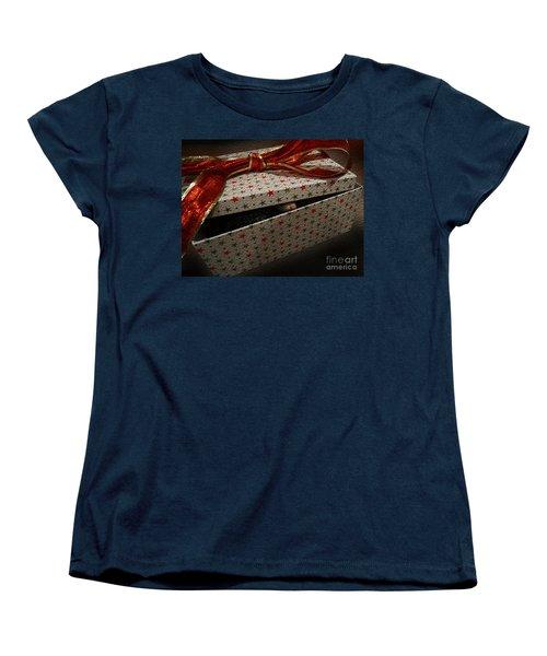 Women's T-Shirt (Standard Cut) featuring the photograph Ferrety Christmas by Cassandra Buckley