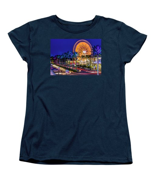 Ferris Wheel At The Wharf Women's T-Shirt (Standard Cut) by Rob Sellers