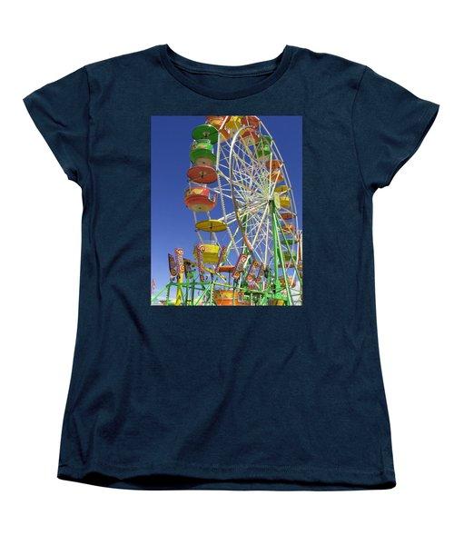 Women's T-Shirt (Standard Cut) featuring the photograph Ferris Wheel by Marcia Socolik