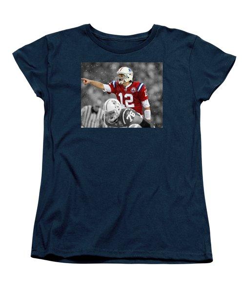 Field General Tom Brady  Women's T-Shirt (Standard Cut) by Brian Reaves
