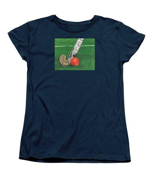 Field Hockey Women's T-Shirt (Standard Cut) by Troy Levesque