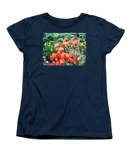 Field Of Flowers Women's T-Shirt (Standard Cut) by Jeff Kolker
