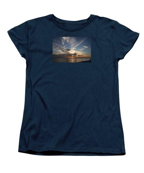 Fiery Sunset Skys Women's T-Shirt (Standard Cut) by Christiane Schulze Art And Photography