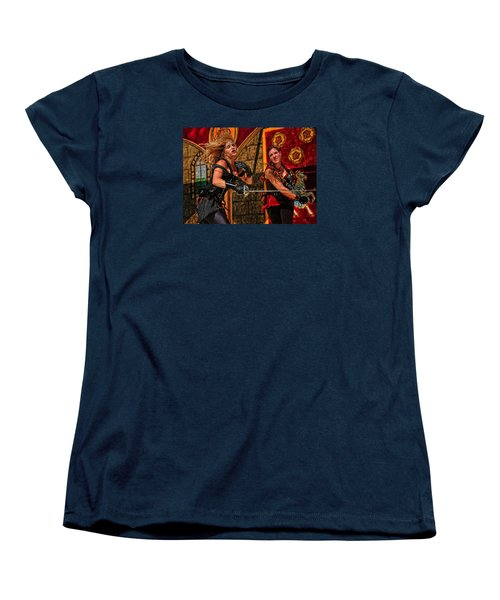 Women's T-Shirt (Standard Cut) featuring the photograph Fight To The Finish by Mike Martin