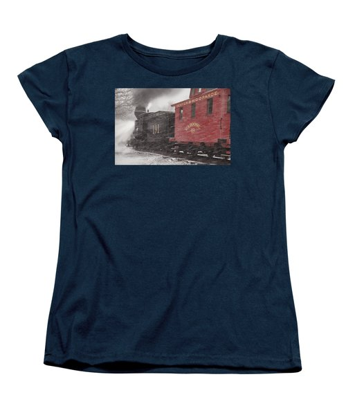 Fighting Through The Winter Storm Women's T-Shirt (Standard Cut) by Ken Smith