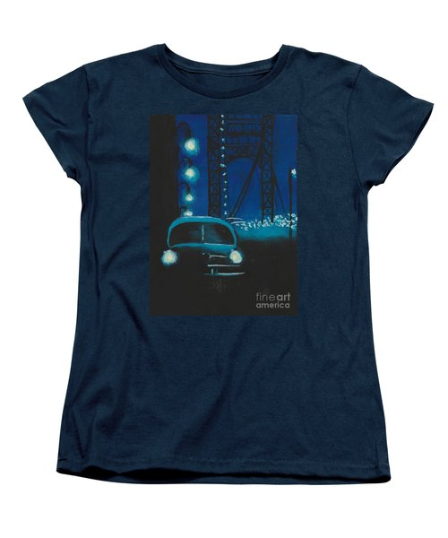 Film Noir In Blue #1 Women's T-Shirt (Standard Cut)