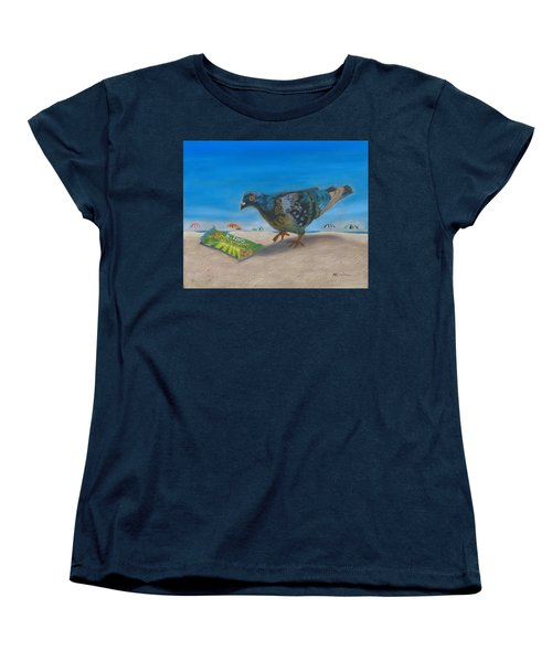 Women's T-Shirt (Standard Cut) featuring the painting Finders Keepers by Arlene Crafton