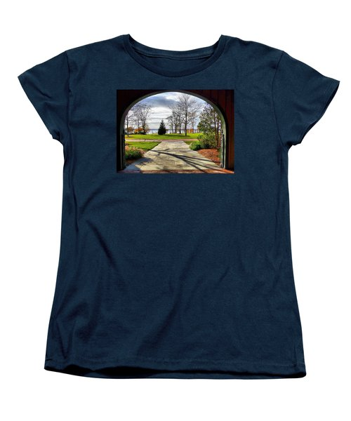 Women's T-Shirt (Standard Cut) featuring the photograph Finger Lakes View From Mackenzie Childs  by Mitchell R Grosky