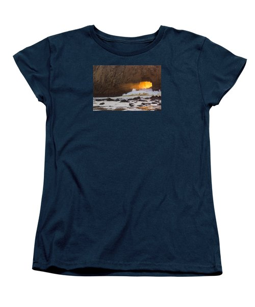Fire In The Hole Women's T-Shirt (Standard Cut) by Suzanne Luft