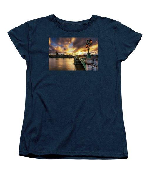 Fire In The Sky Women's T-Shirt (Standard Cut) by Yhun Suarez