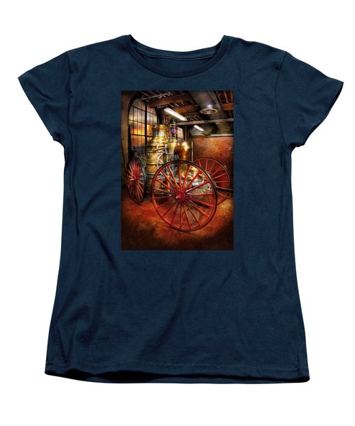 Fireman - One Day A Long Time Ago  Women's T-Shirt (Standard Cut) by Mike Savad