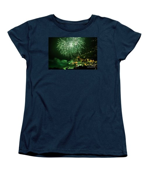 Women's T-Shirt (Standard Cut) featuring the photograph Fireworks Hdr by Antonio Scarpi