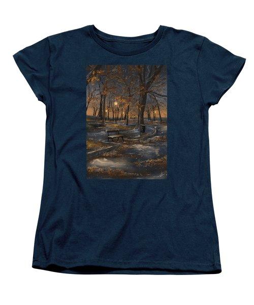 First Snowfall Women's T-Shirt (Standard Cut) by Veronica Minozzi
