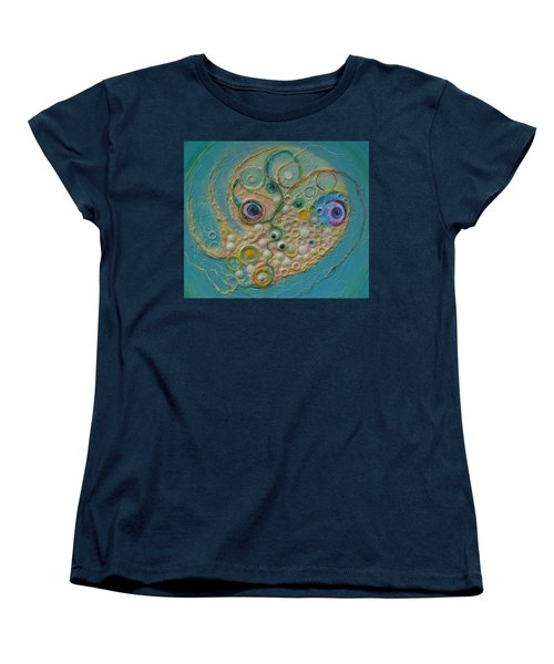 Fried Egg Head Over Queasy Women's T-Shirt (Standard Cut) by Douglas Fromm