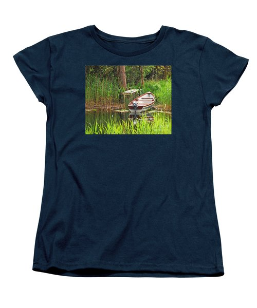 Women's T-Shirt (Standard Cut) featuring the photograph Fishing Boat by Mary Carol Story