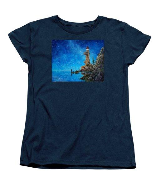 Women's T-Shirt (Standard Cut) featuring the painting Fishing by Matt Konar