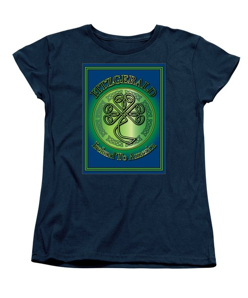 Fitzgerald Ireland To America Women's T-Shirt (Standard Cut) by Ireland Calling
