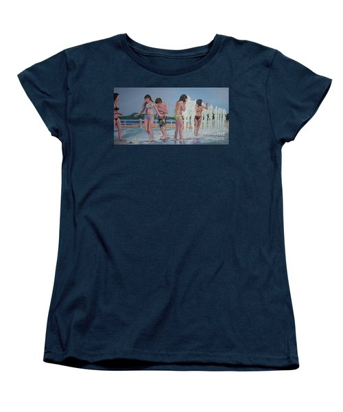 Five Fountain Friends Women's T-Shirt (Standard Cut)