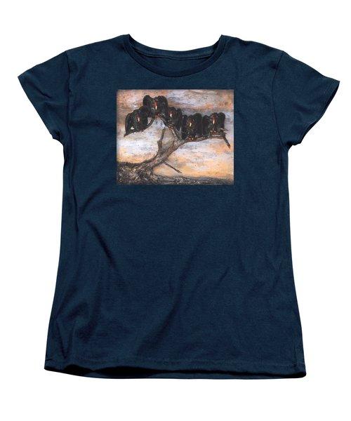 Five Vultures In Tree Women's T-Shirt (Standard Cut)