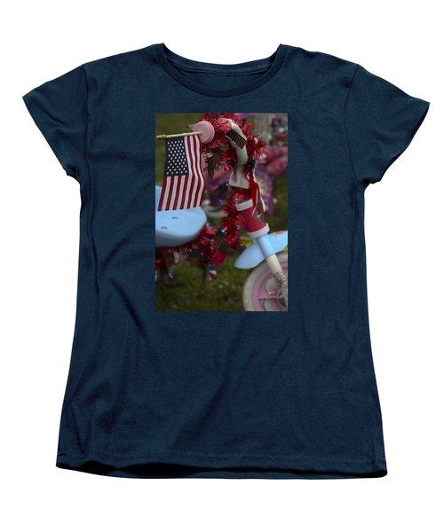 Flag Bike Women's T-Shirt (Standard Cut) by Patrice Zinck