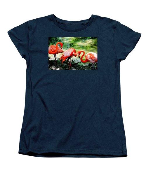 Flamingo Friends Women's T-Shirt (Standard Cut) by Beverly Stapleton