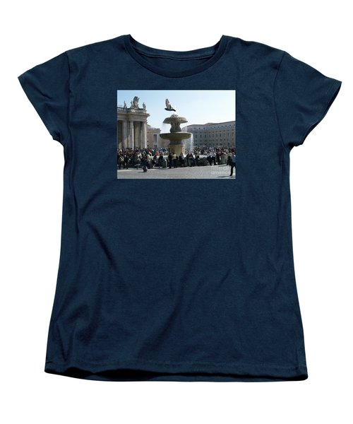 Women's T-Shirt (Standard Cut) featuring the photograph Flight And Fountain by Robin Maria Pedrero