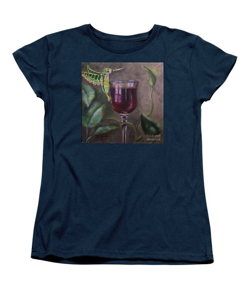 Women's T-Shirt (Standard Cut) featuring the painting Flight Of Fancy by Marlene Book