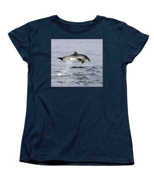 Flight Of The Dolphin Women's T-Shirt (Standard Cut) by Shoal Hollingsworth