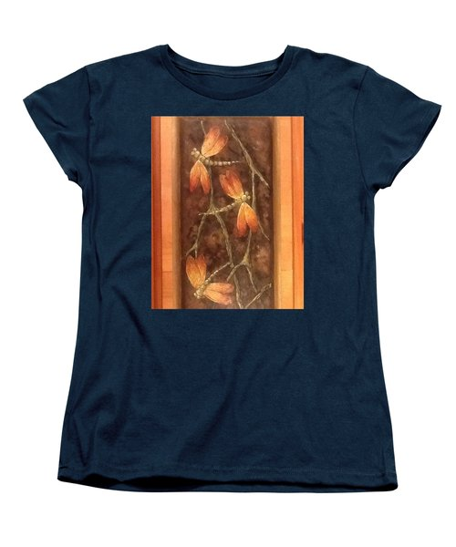 Women's T-Shirt (Standard Cut) featuring the painting Flight Of The Dragons by Megan Walsh