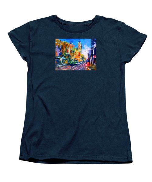 Flinders Street - Original Sold Women's T-Shirt (Standard Cut) by Therese Alcorn