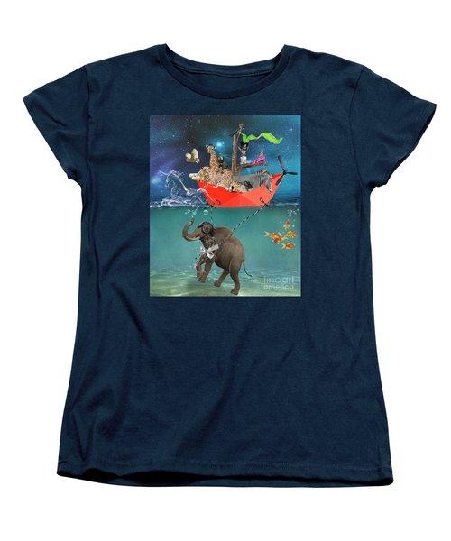 Floating Zoo Women's T-Shirt (Standard Cut) by Juli Scalzi