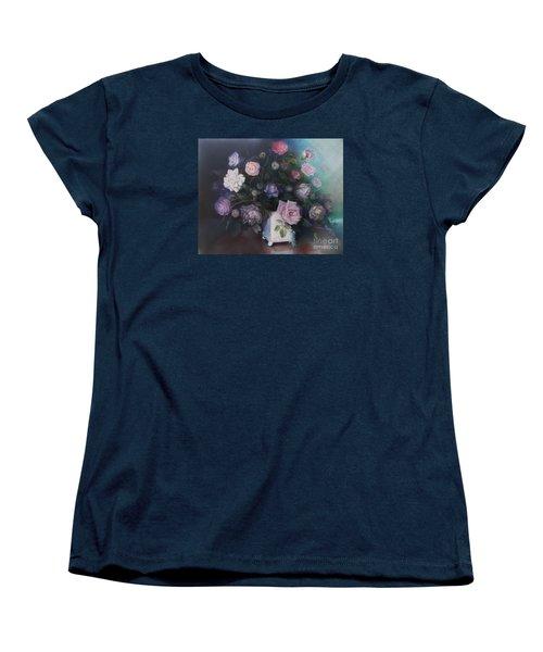 Floral Still Life Women's T-Shirt (Standard Cut) by Marlene Book