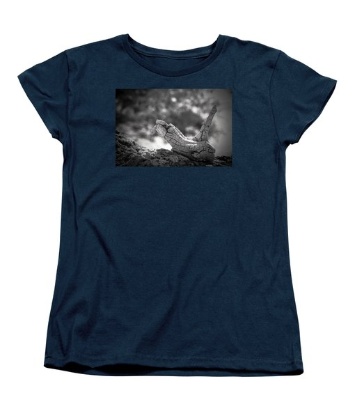 Women's T-Shirt (Standard Cut) featuring the photograph Florida Keys Driftwood by Bradley R Youngberg