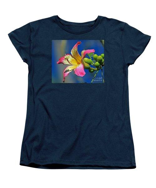 Floss Silk Bloom Women's T-Shirt (Standard Cut) by Larry Nieland